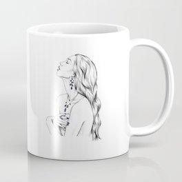 Sapphire Mermaid Portrait - September Coffee Mug