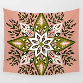 Prickly Mandala – Sage & Pink Wall Tapestry