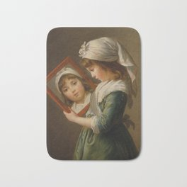 Elisabeth Louise Vigée Le Brun - Looking in a Mirror Bath Mat