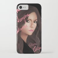 vampire diaries iPhone & iPod Cases featuring Elena Gilbert (The Vampire Diaries) by Ally Hsia