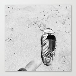 toes in the sand Canvas Print