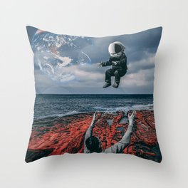 Raising Astronauts Throw Pillow
