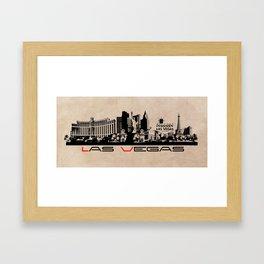 Las Vegas skyline Framed Art Print