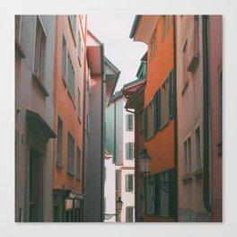 Zurich Alley IV Canvas Print