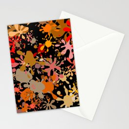 Fun Brown Paint Splats Stationery Cards