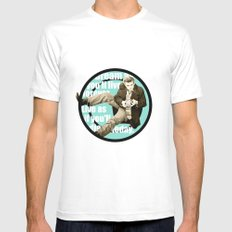 James Dean White Mens Fitted Tee SMALL