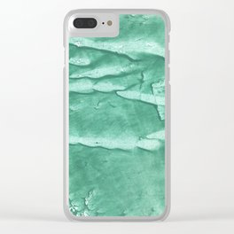 Green spotted watercolor Clear iPhone Case