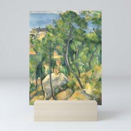 """Paul Cezanne """"View of the sea at L'Estaque"""" Mini Art Print"""