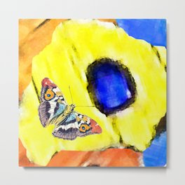 The butterfly scales Metal Print