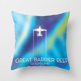 Great Barrier Reef , Queensland, Australia Throw Pillow