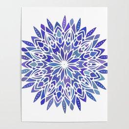 Mandala Vivid Blue Poster