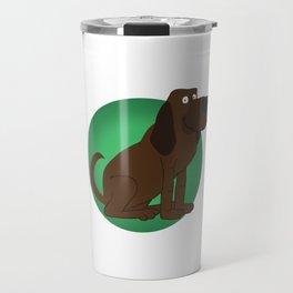 Bloodhound Illustration Travel Mug