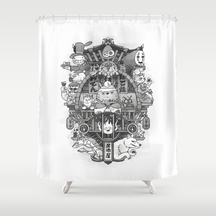 Ghibli Izakaya Shower Curtain By Sushicat