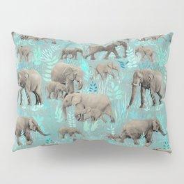 Sweet Elephants in Soft Teal Pillow Sham