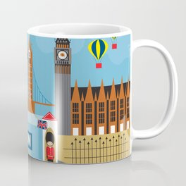 London, England - Collage Illustration by Loose Petals Coffee Mug