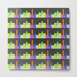 Tetris vs. Skyscape Metal Print