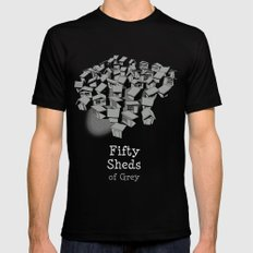 50 Sheds of Grey Mens Fitted Tee MEDIUM Black