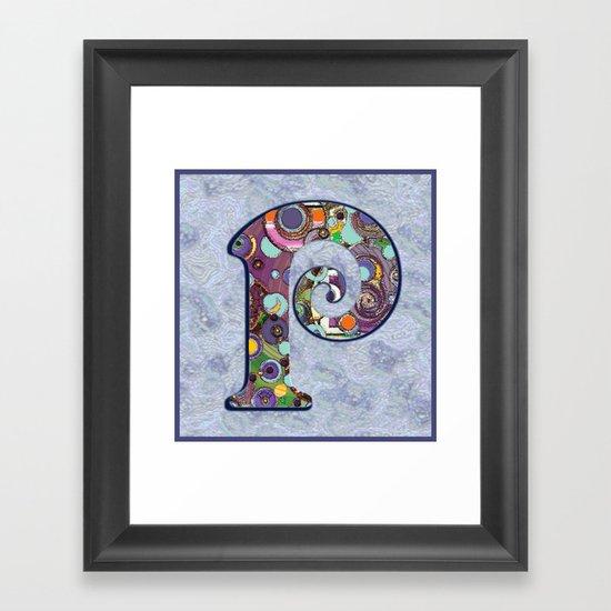 The Letter P Framed Art Print