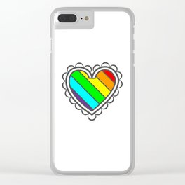 Heart in Fashion Modern Style Illustration Clear iPhone Case