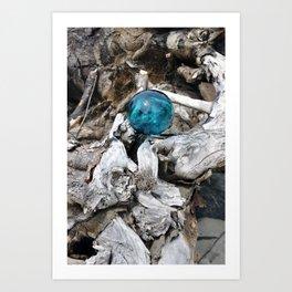 Newkowin Oregon - Ocean Driftwood Art Print