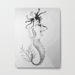 "Collection "" Nightmares"" impression ""Mermaid #1"" Metal Print"