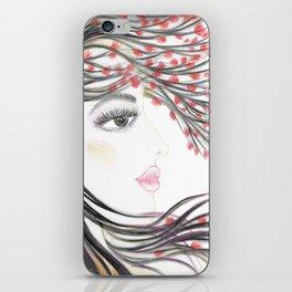 Sakura Face iPhone Skin