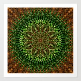 Earth Flower Mandala Art Print