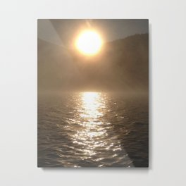 """Sun and water.""  Nature Series #1. Metal Print"