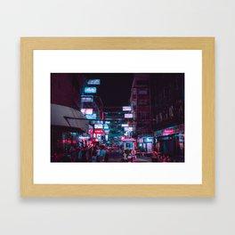 Neon signs / Bladerunner Vibes / Bangkok Framed Art Print