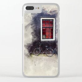Bike on an Amsterdam street Clear iPhone Case