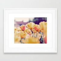 tulips Framed Art Prints featuring Tulips by elle moss
