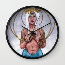 Surya Mudra Wall Clock