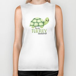 You Are Turtley Awesome! Biker Tank