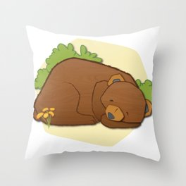 Sleeping Bear Throw Pillow