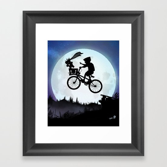 E.T Kid Framed Art Print