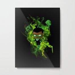 Chibi Green Lantern Metal Print