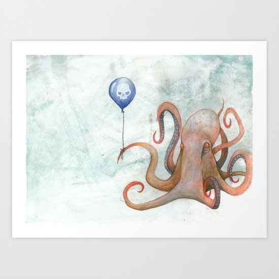 doom balloon Art Print