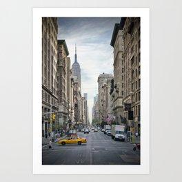 NEW YORK CITY 5th Avenue Art Print