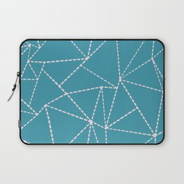 Ab Dotted Lines Pink on Blue Laptop Sleeve