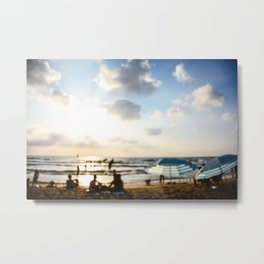 Late afternoon at the beach Metal Print