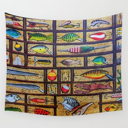 Fishing Lures Collection  Wall Tapestry