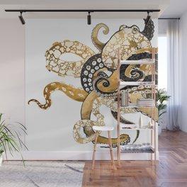 Metallic Octopus Wall Mural