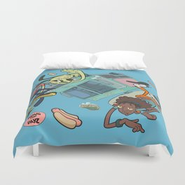 Dawg Dayz / Skies the limit Duvet Cover