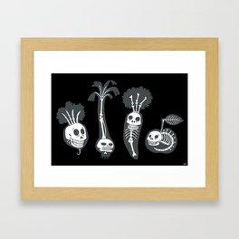 X-rays vegetables (black background) Framed Art Print