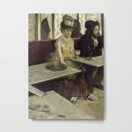 In a café (or  L'Absinthe) Metal Print