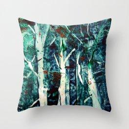 ForestNight Throw Pillow