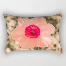 Spring Soft Pink Daffodil Blossom Rectangular Pillow