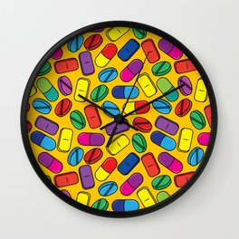 Pill Pattern Wall Clock