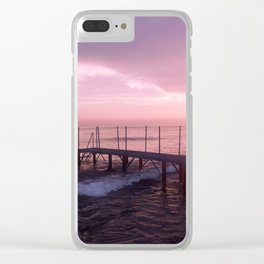 On the Beach at Sunset Clear iPhone Case