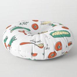 Vegetable quiche Floor Pillow